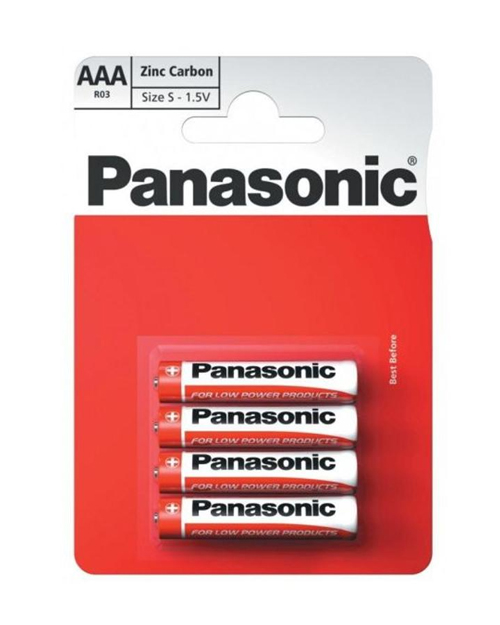 Батарейка солевая PANASONIC Red Zinc ААА/4B