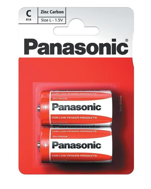 Батарейка солевая PANASONIC Red Zinc С/2B