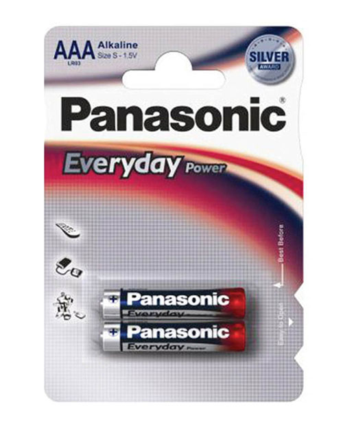 Батарейка щелочная PANASONIC Every Day Power AAA/2B