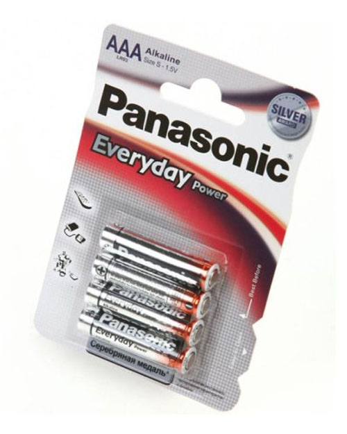 Батарейка щелочная PANASONIC Every Day Power AAA/4B
