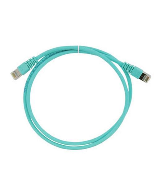 3M FQ100007373 Коммутационный кабель кат. 6А, экранированный, S/FTP, RJ45-RJ45, бирюзовый, LSZH, 1 м - фото 1