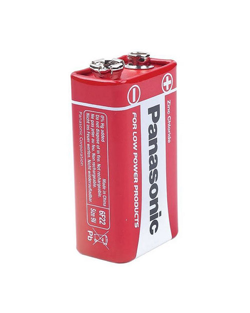 Батарейка солевая PANASONIC Red Zinc крона/1B - фото 1