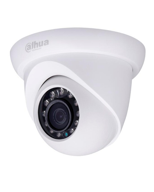 "Dahua IPC-HDW1420S купольная IP видеокамера 1/3"" 4MP CMOS, IR 30m, IP67, DC12V/PoE"