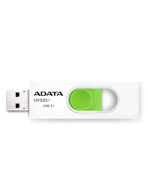 ADATA UV320, 32GB, UFD 3.1, White/green (AUV320-32G-RWHGN)