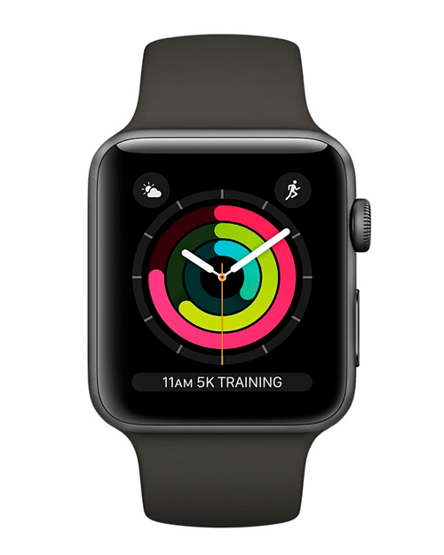 Apple Watch Series 3 GPS, 38mm Black Sport Band