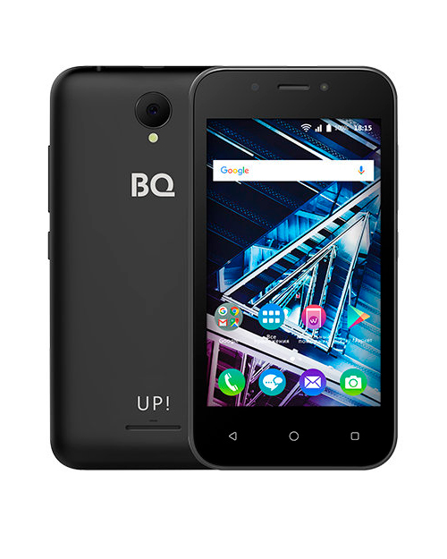 "Смартфон BQ-4028 UP! Черный 4""/800х480WVGA/Spreadtrum 7731E,4 ядра/512Mb+8Gb/5+2MP/1300 мА/3G"