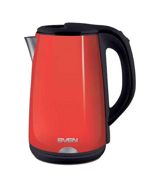 Чайник электрический SVEN  KT-D2004, красный - черный - фото 2