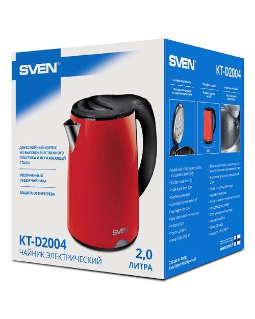 Чайник электрический SVEN  KT-D2004, красный - черный - фото 5