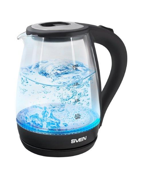 Чайник электрический SVEN  KT-G1806, черный  - фото 1