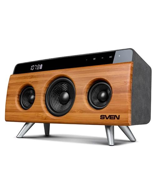 SVEN HA-930, бамбук, акустическая система, мощность 30 Вт (RMS), Bluetooth, FM, USB, LED-дисплей - главное фото