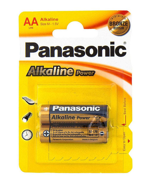 Батарейка щелочная PANASONIC Alkaline Power АА/2B - фото 1
