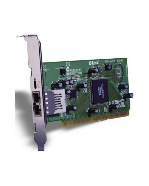 D-Link DGE-550SX Сетевой адаптер PCI 10/100/1000  оптический - фото 1