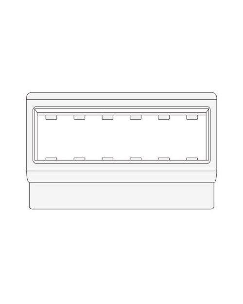 DKC 10363 PDA-ЗDN 120 Рамка-суппорт под 6 модулей