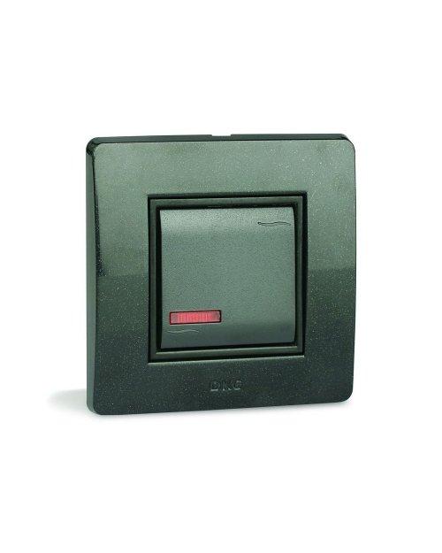 DKC 76001BL Выключатель с подсветкой,белый ,1модуль