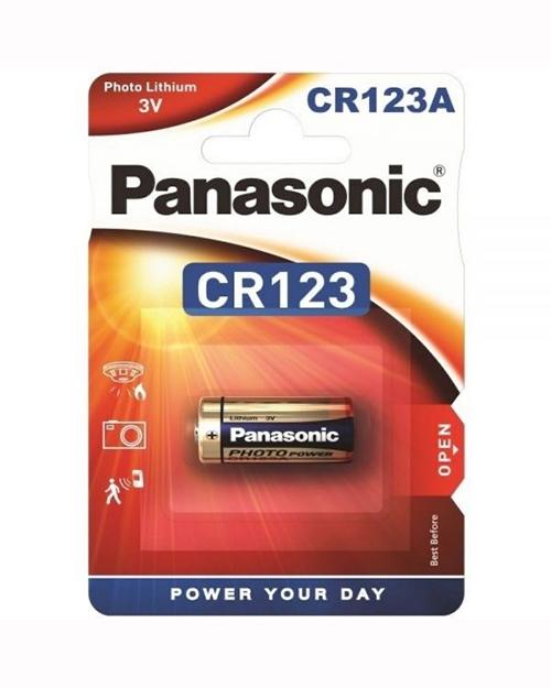 Батарейка литиевая PANASONIC CR-123/1BP - фото 1