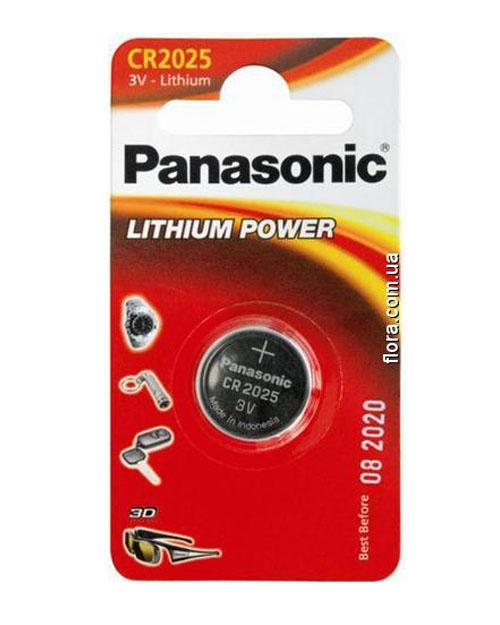 Батарейка дисковая литиевая PANASONIC CR-2025/1B - фото 1