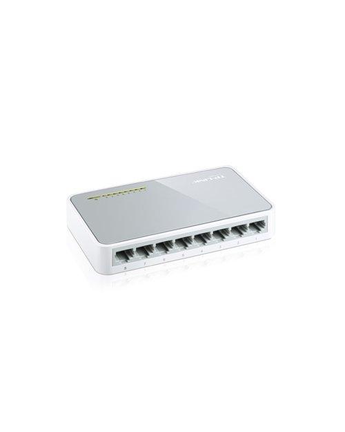 TP-Link TL-SF1008D 8-портовый 10/100 Мбит/с настольный коммутатор - фото 4
