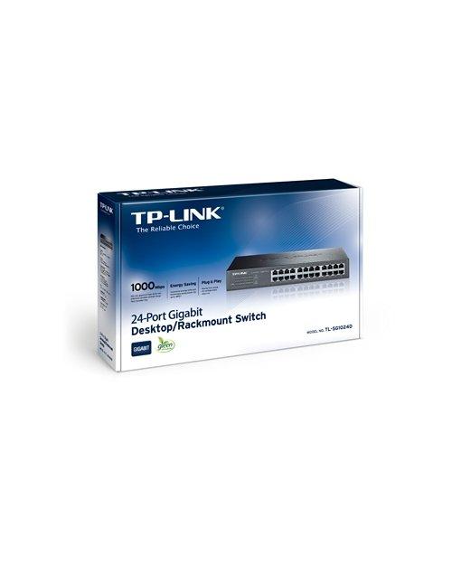 TP-Link TL-SG1024D 24-портовый гигабитный настольный/монтируемый в стойку коммутатор - фото 3