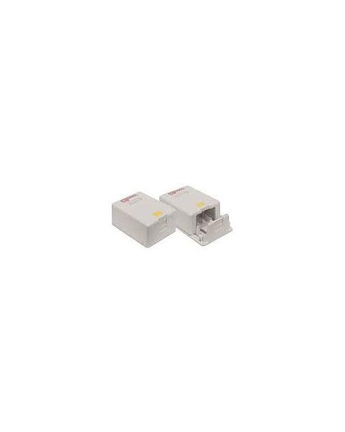 160110111 Premium Line Настенная коробка для 1 модуля Кейстоун, цвет белый, со шторкой