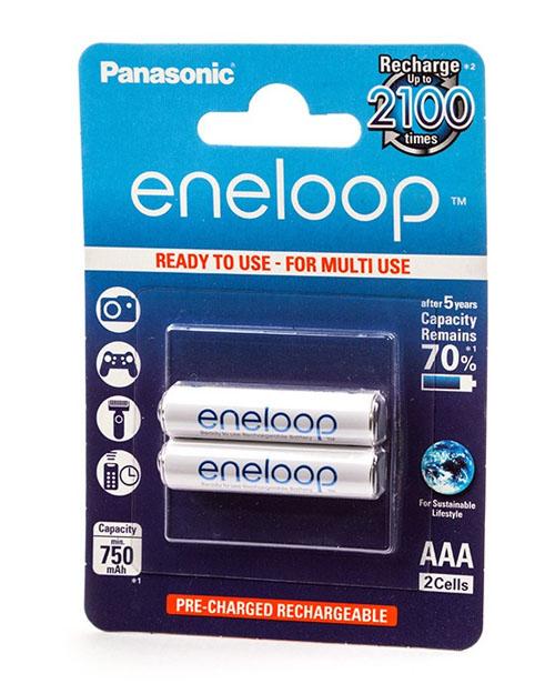 Аккумулятор PANASONIC Eneloop AAA 750 mAh/2B - фото 1
