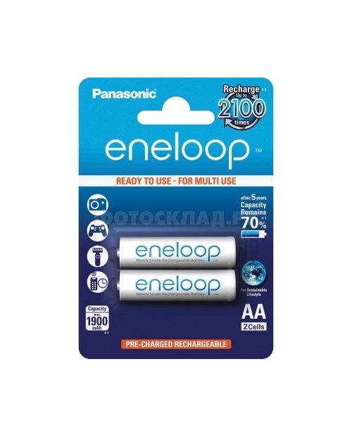 Аккумулятор PANASONIC Eneloop AA 1900 mAh/2B - фото 1