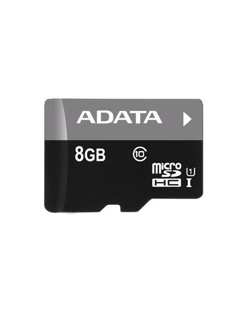 ADATA microSDHC UHS-I CLASS10, Retail w/1 adapter, 8 Gb - фото 1