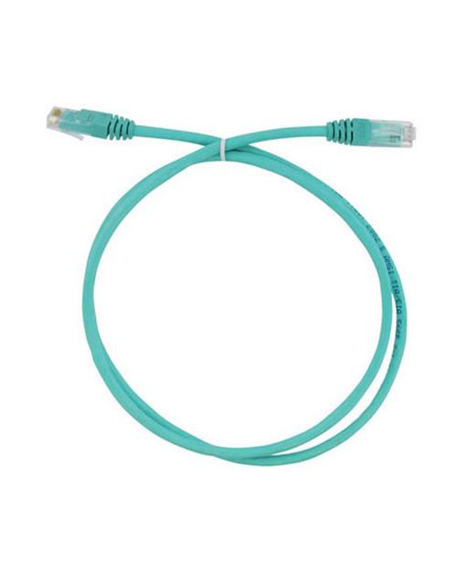 3М FQ100071999 Коммутационный кабель кат. 6, неэкранированный, RJ45-RJ45, UTP, бирюзовый, LSZH, 2 м - фото 1