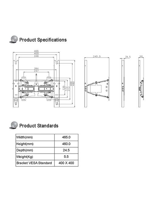 Samsung WMN4270SD Кронштейн 42-70