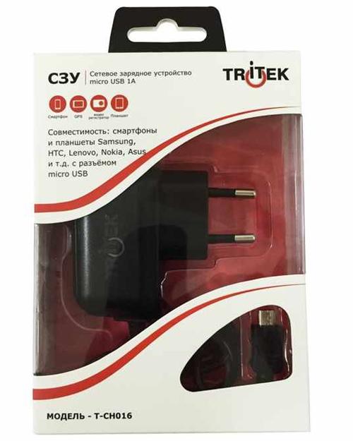 T-CH016 зарядное устройство (цельное СЗУ micro USB)