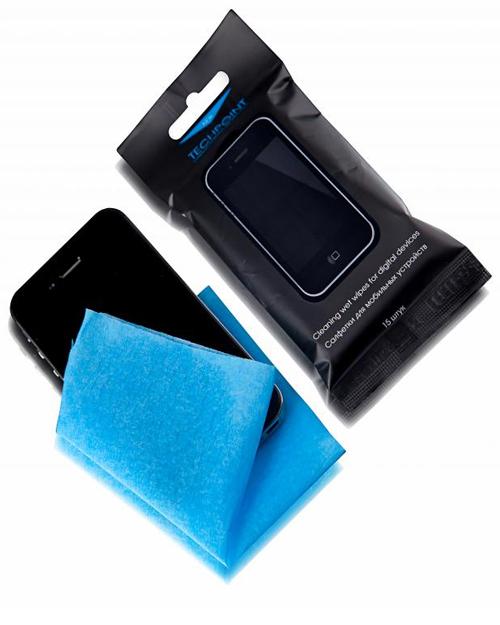 Влажные салфетки Techpoint 1123 для мобильных устройств в мягк.упак. (15шт.) - фото 1