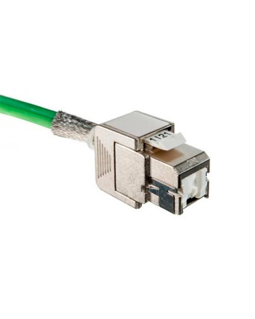 3M DE010022742 Розеточный модуль кат. 6А, экранированный, монтаж без инструмента, белый, STP