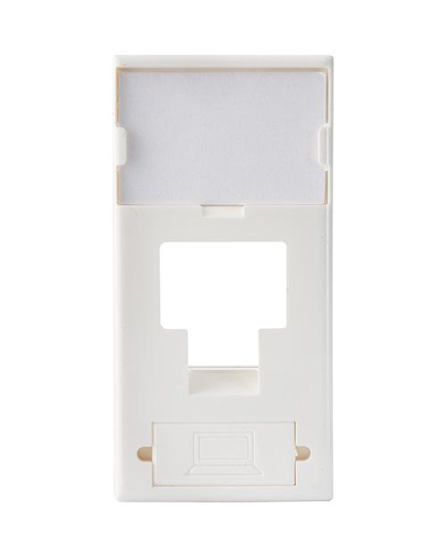 3М FQ100020178 Лицевая панель под модуль Volition®, 1-порт, 45 х 45, белая