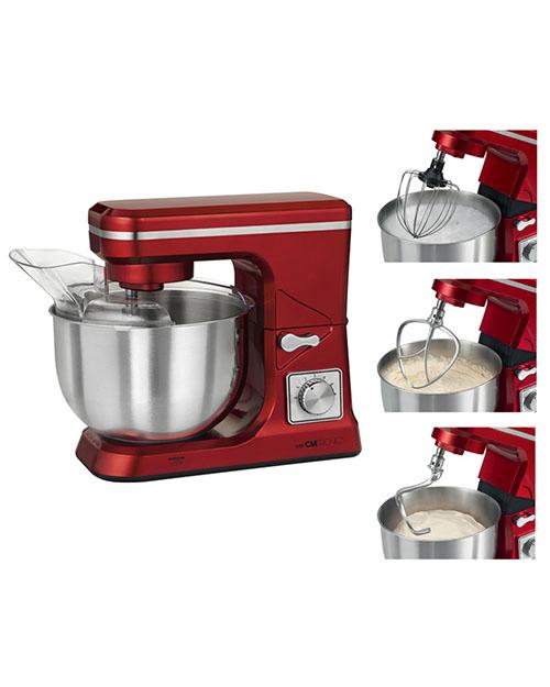 Кухонный комбайн CLATRONIC KM-3647 красный - фото 1