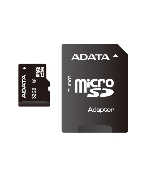 ADATA microSDHC UHS-I CLASS 4, 32Gb RETAIL W/1 ADAPTER - фото 1