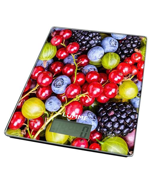 Весы кухонные LUMME LU-1340 сенсорные ягодный микс