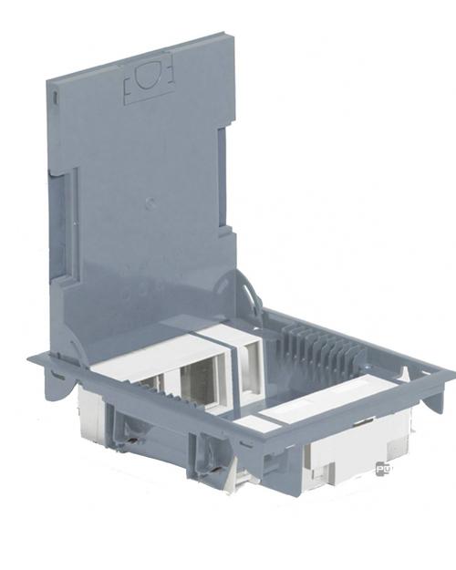 Коробка напольная серая 089621 10 модулей глубиной 65мм