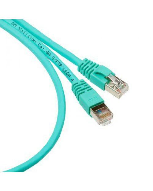 3М UU008074625 Коммутационный кабель кат. 6, неэкранированный, RJ45-RJ45, UTP, бирюзовый, PVC, 1 м