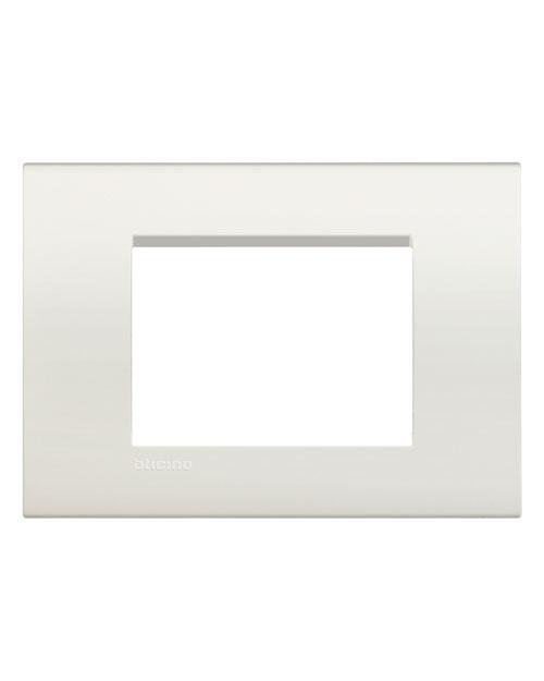LivingLight LNA4803BI Рамка прямоугольная, 3 модуля, цвет Белый