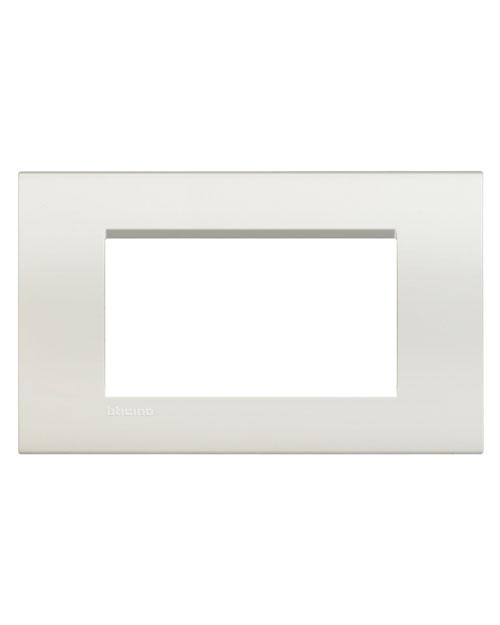 LivingLight Рамка прямоугольная, 4 модуля, цвет Белый