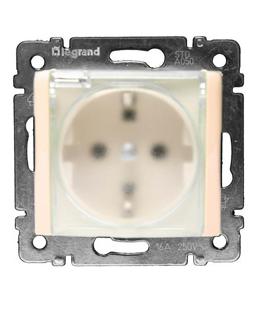 Legrand 774120 Розетка 2К+З IP44 шт СЛНК VLN