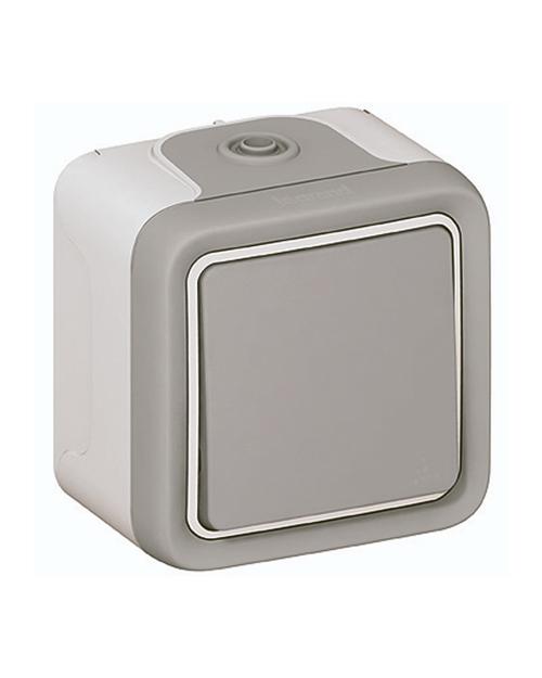 Переключатель 10A, серый накл 069711 - фото 1