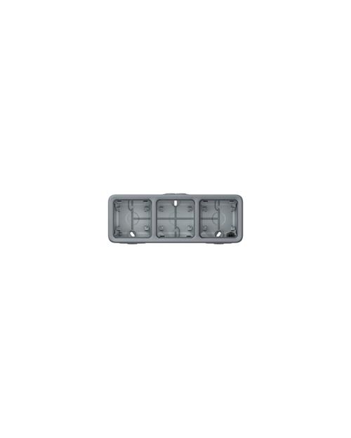 Legrand 069680 PlexoКор.серый, 3п. гор - фото 1