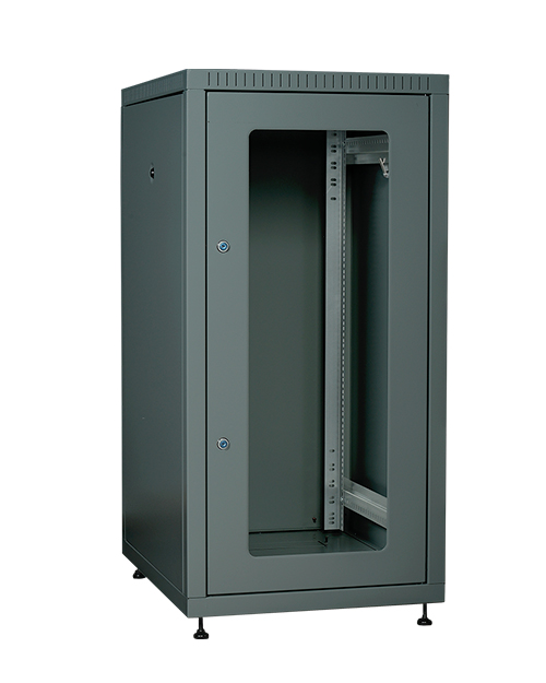 ITK LE05-24U68-GM ITK Шкаф LINEA E 24U 600х800мм двери 2шт стек. и метал. чер.