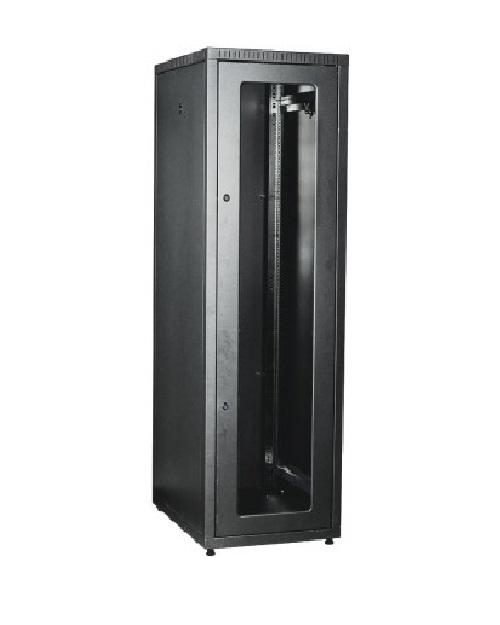 ITK LE05-42U68-GM ITK Шкаф LINEA E 42U 600х800мм двери 2шт стек. и метал. чер.