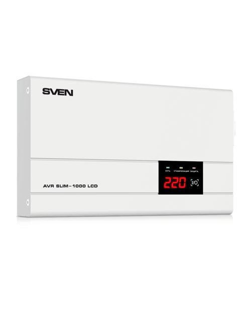 Автоматический стабилизатор напряжения SVEN AVR SLIM-1000 LCD - главное фото